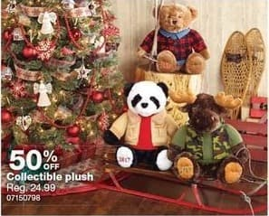 Sears Black Friday: Collectible Plush - 50% Off