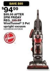 Sears Black Friday: Hoover UH72630 WindTunnel 3 High-Performance Pet Upright Vacuum for $94.99