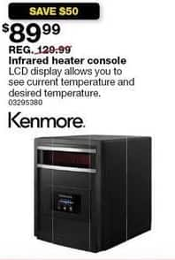 Sears Black Friday: Kenmore KRH6504ERE-MU Infrared Heater Console for $89.99