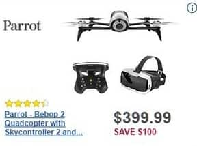 Best Buy Black Friday: Parrot Bebop 2 Quadcopter w/ Skycontroller 2 and Cockpit FPV Glasses for $399.99