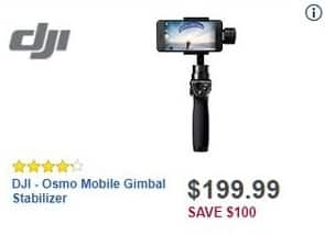 Best Buy Black Friday: DJI Osmo Mobile Gimbal Stabilizer for $199.99