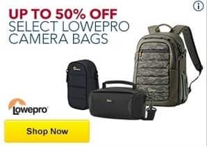 Best Buy Black Friday: Select Lowepro Camera Bags - Up to 50% Off