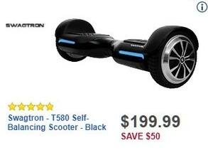 Best Buy Black Friday: Swagtron T580 Self-Balancing Scooter for $199.99
