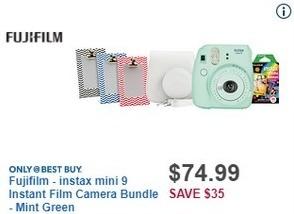 Best Buy Black Friday: Fujifilm Instax Mini 9 Instant Film Camera Bundle for $74.99