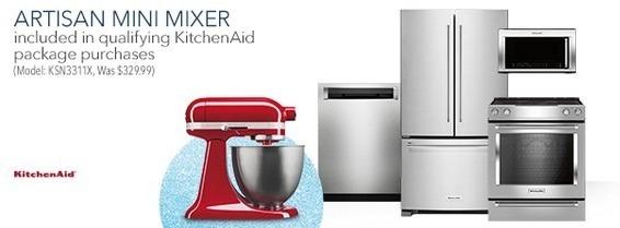 Best Buy Black Friday: KitchenAid Artisan Mini Mixer w/ Qualifying KitchenAid Package Purchase for Free