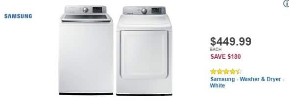 Best Buy Black Friday: Samsung 4.5 Cu. Ft. 9-Cycle Top-Loading Washer (WA45M7050AW) for $449.99