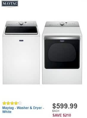 Best Buy Black Friday: Maytag 5.3 Cu. Ft. 11-Cycle Top-Loading Washer (MVWB835DW) for $599.99