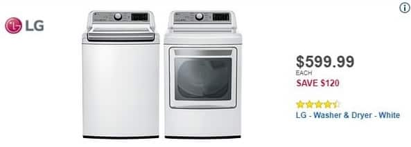Best Buy Black Friday: LG 5.0 Cu. Ft. 8-Cycle Top-Loading Washer (WT7200CW) for $599.99