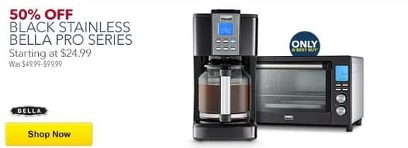 Best Buy Black Friday: Bella Pro Series Black Stainless Steel Small Appliances - 50% Off
