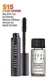 Macy's Black Friday: Bobbi Brown 2-pc Eye Opening Mascara and Makeup Remover Set for $15.00
