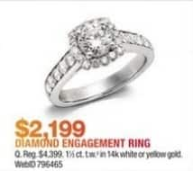 Macy's Black Friday: 1 1/2-ct T.W. Diamond Engagement Ring in 14k Gold for $2,199.00