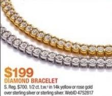 Macy's Black Friday: 1/2-ct T.W. Diamond Illusion Tennis Bracelet in 14k Gold for $199.00