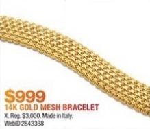Macy's Black Friday: 14k Gold Mesh Bracelet for $999.00
