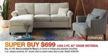 Macy S Black Friday Lidia 2 Pc 82 Chaise Sectional Sofa For