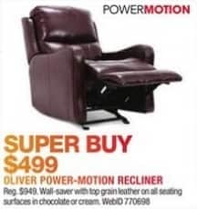Macy's Black Friday: Oliver Power-Motion Recliner for $499.00