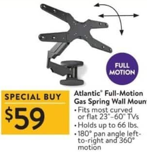 Walmart Black Friday: Atlantic Full-Motion Gas Spring Wall Mount for $59.00