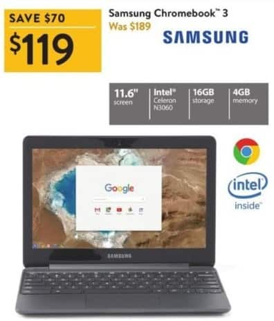 Black Friday Chromebook >> Walmart Black Friday Samsung 11 6 Chromebook 3 Intel N3060 16gb