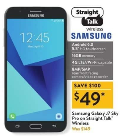 Walmart Black Friday: 16GB Samsung Galaxy J7 Sky Pro