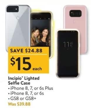 wholesale dealer 63eb8 a11f4 Walmart Black Friday: Incipio Lighted Selfie Case for $15.00 ...