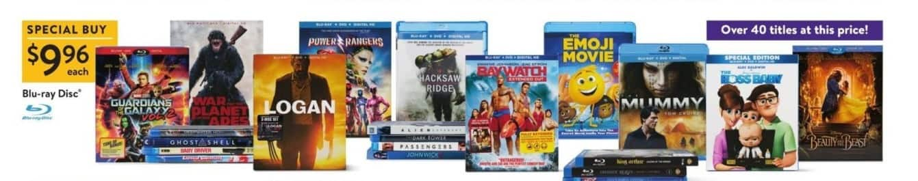 Walmart Black Friday: Select Blu-Rays: Logan, Guardians of the Galaxy Vol. 2, War of the Planet of the Apes & More for $9.96