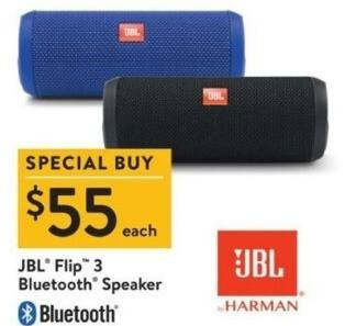 Walmart Black Friday: JBL Flip 3 Bluetooth Speaker for $55.00