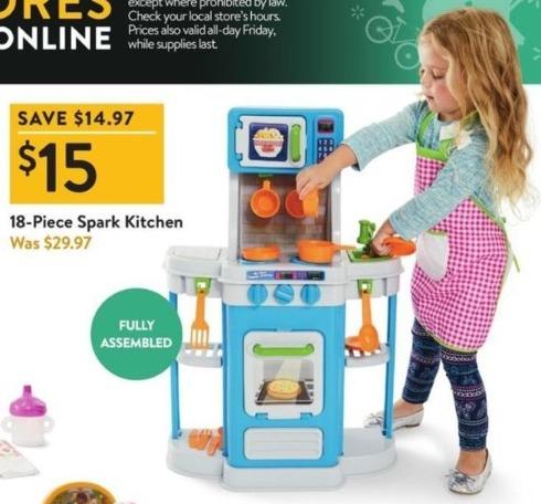 Walmart Black Friday: Spark 18-pc Kitchen for $15.00