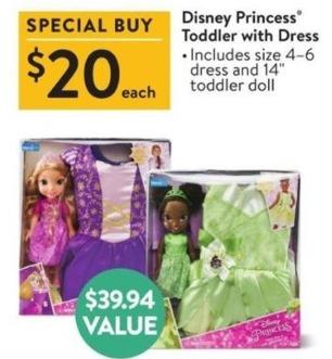 Walmart Black Friday: Disney Princess Toddler w/ Dress for $20.00
