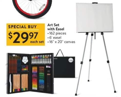 Walmart Black Friday: 162-pc Art Set w/ Easel for $29.97