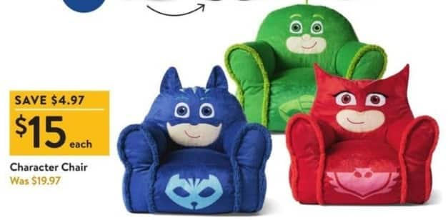Walmart Black Friday: Character Chair for $15.00