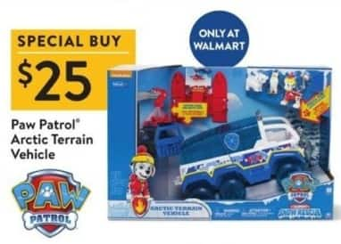 Walmart Black Friday: Paw Patrol Arctic Terrain Vehicle for $25.00