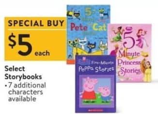 Walmart Black Friday: Select Kids Storybooks for $5.00