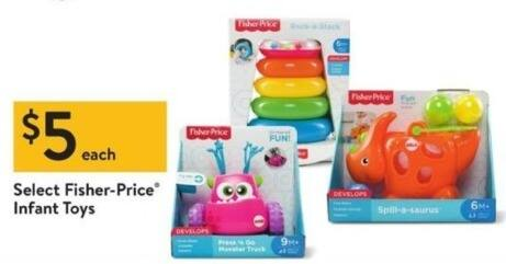 Walmart Black Friday: Fisher-Price Infant Toys, Select Items for $5.00