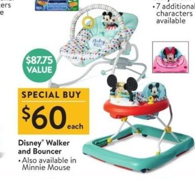 Walmart Black Friday: Disney Walker and Bouncer for $60.00