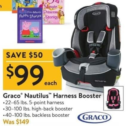 Walmart Black Friday: Graco Nautilus Harness Booster for $99.00