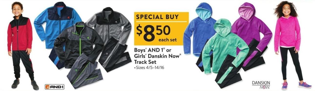 Walmart Black Friday: AND 1 Boys' or Danskin Now Girls' Track Set for $8.50