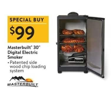 "Walmart Black Friday: Masterbuilt 30"" Digital Electric Smoker for $99.00"