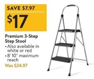 Walmart Black Friday: Premium 3-Step Step Stool for $17.00