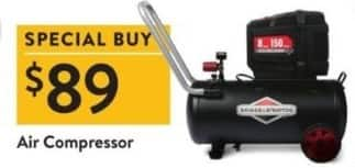 Walmart Black Friday: Briggs and Stratton Air Compressor for $89.00