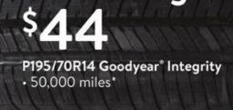 Walmart Black Friday: Goodyear Integrity P195/70R14 Tires for $44.00