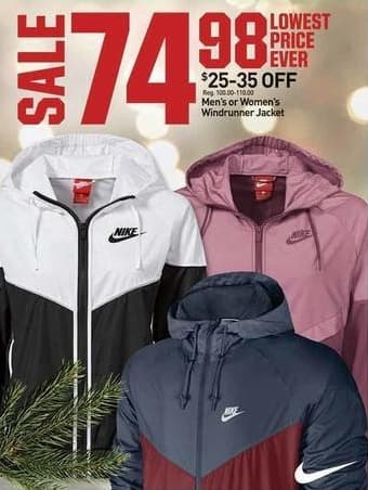 7d49b62a6 Dicks Sporting Goods Black Friday: Nike Men's or Women's Windrunner Jacket  for $74.98