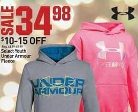 Dicks Sporting Goods Black Friday: Under Armour Youth Fleece, Select Styles for $34.98