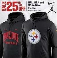 Dicks Sporting Goods Black Friday: Nike NFL, NBA and NCAA Fleece - 25% Off