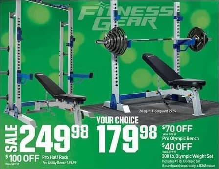 Dicks Sporting Goods Black Friday Fitness Gear Pro Olympic Bench or