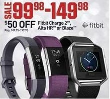 Dicks Sporting Goods Black Friday: Fitbit Charge 2, Alta HR or Blaze for $99.98 - $149.98
