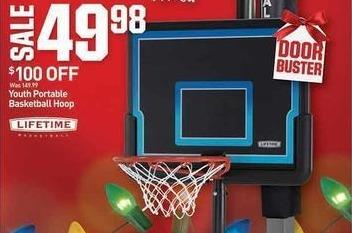 Dicks Sporting Goods Black Friday: Lifetime Youth Portable Basketball Hoop for $49.98