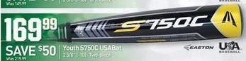 Dicks Sporting Goods Black Friday: Easton S750C Youth USABat for $169.99