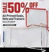Dicks Sporting Goods Black Friday: All Primed Goals, Nets and Trainers - 50% Off