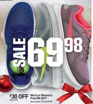 Dicks Sporting Goods Black Friday: Nike Youth Free RN 2017 Shoes for $59.98