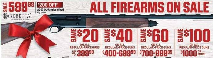 Dicks Sporting Goods Black Friday: All Guns Regularly Priced $1000 or More - $100 Off