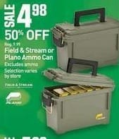 Dicks Sporting Goods Black Friday: Field & Stream or Plano Ammo Can for $4.98